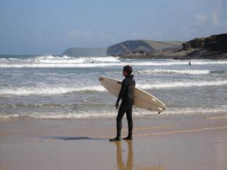 Harlyn Bay, surfer's paradise!