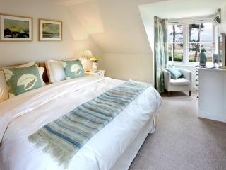 Another wonderfully comfortable double bedroom, with stunning sea views.