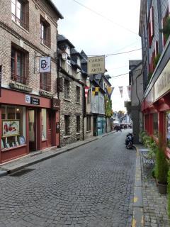 La rue où se trouve l'appartement