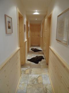 downstairs corridor leading to bedrooms