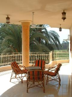 The balcony on the Nile side