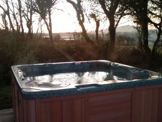 The hot tub in winter