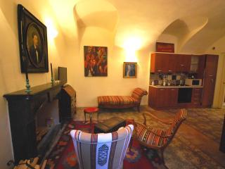 Residenza Cavour, soggiorno con angolo cottura