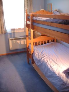 Smaller bunk room - bunks all 3 feet wide