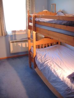 Smaller bunk room - bunks all 3 feet wide