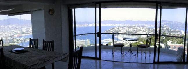 Panorama view from inside the apartment
