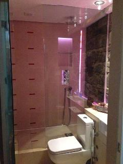 Ensuite shower room in Master Bedroom with toilet and wash basin and bidet.