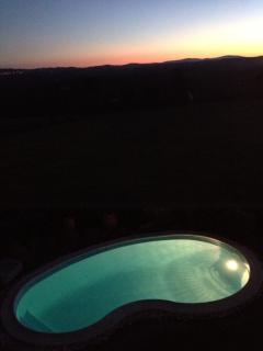 sunset over the pool...what a view