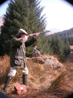 Clay pigeon and target shooting avaialble on the Portnellan Estate.