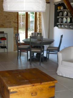 Dining area with French doors to the garden