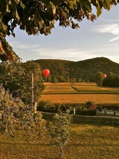 Hot air ballooning over the Dordogne River valley