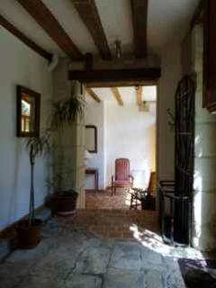 Hall way from the kitchen to the downstairs bathroom and petit salon