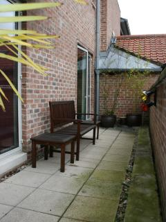 Our private south-facing terrace