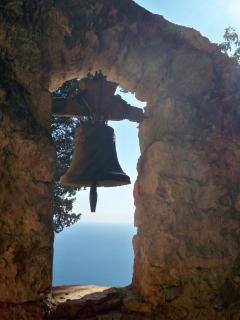The ancient bell in the 1500's Augustinian cave monastery--great hiking destination