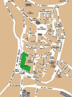 Mappa della città di Montefalco