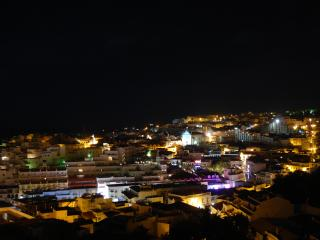 The view from the balcony at night