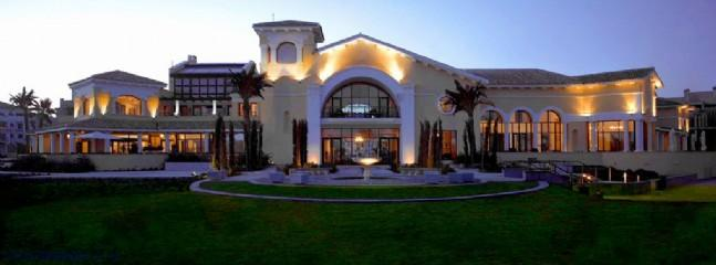 Rear of clubhouse at night