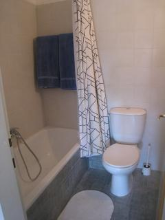 Bathroom w/ full bath and shower