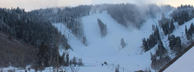 View from Upstairs Window of Deer Valley slopes