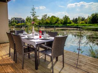 Alfresco dinning on your own private terrace, looking out across Clearwater Lake