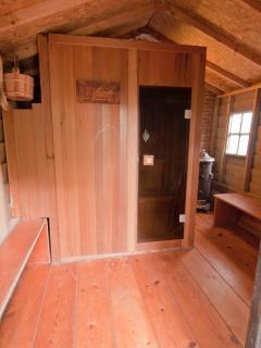 Sauna in the boathouse