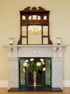 Original marble Fireplace and overmantle