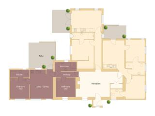 Floor Plan of Cottage - Gap Suite -dark area to left