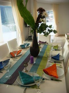 Indoor dining - should you wish to escape the sun!