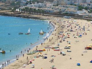 Panoramic view of beach at Praia da Luz