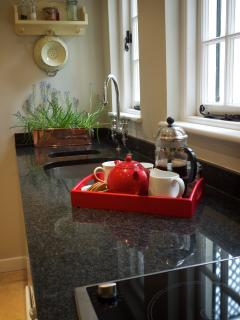 Kitchen and granite worktop