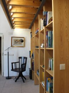 sala/biblioteca na Casa Grande