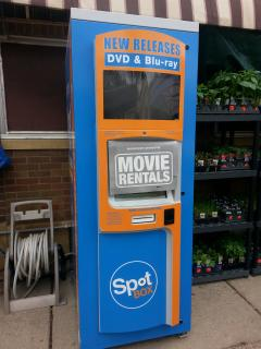 video rental at local market