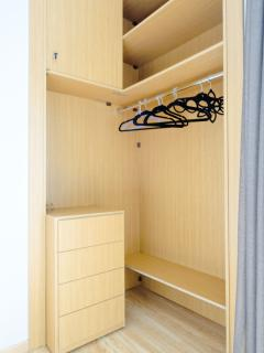 open closet and lockable space