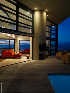 romantic nights with fireplaces inside and outside