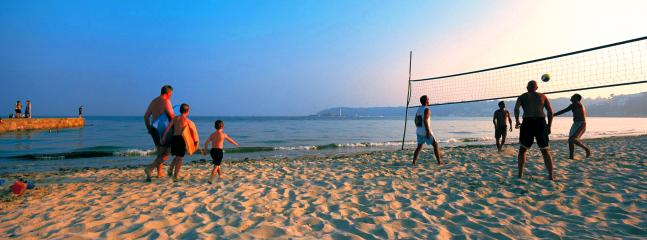 Heading out of St Aubin there is often a friendly volleyball match at the gunsite