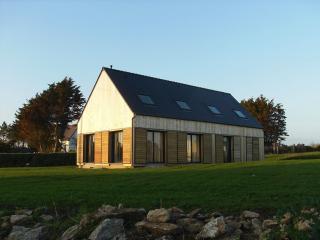 Maison neuve bois vue sur la mer