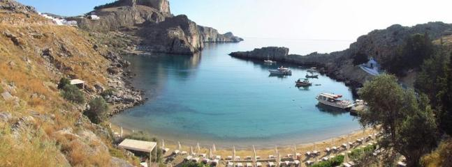 St Paul Bay in AMAZING Lindos for peacfull days