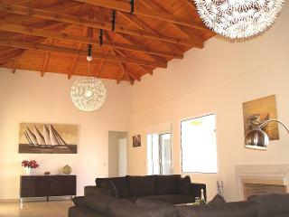 The Main Living Room with High Beamed Ceilings