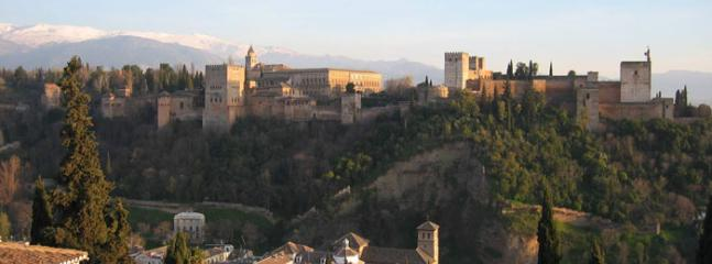The magicial Alhambra Palace, with a backdrop of snowcapped peaks, an hours drive away
