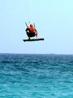 primi salti col kite