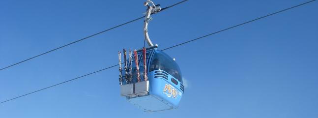 The Gondola takes you to the slopes