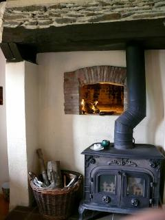 Wood burning stove and the original bread oven