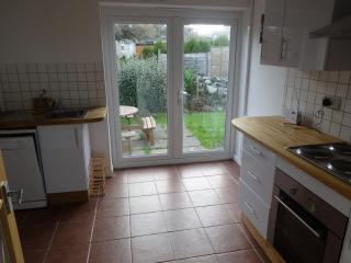 Kitchen with patio door