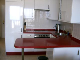 Modern kitchen and marble worktop