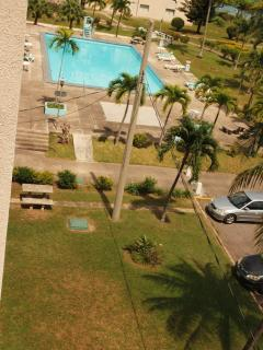 View of swimming pool from the balcony