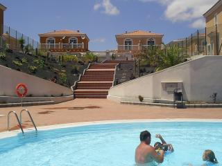 View of the villa from pool