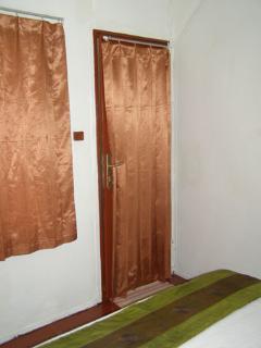 View to shower door