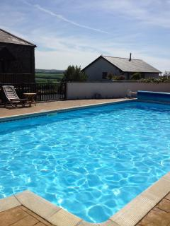 Our heated outdoor swimming pool is open from Easter to the end of September.