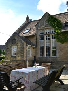 enjoy dining Alfresco in the South Facing Garden