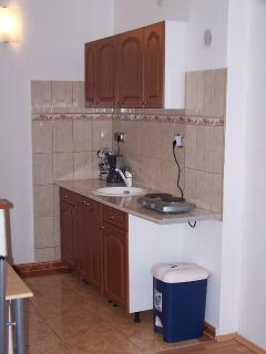 groundfloor bedroom with well equipped american kitchen